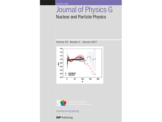 Meet Journal Of Physics G's Reviewer Of The Year 2016: Dr