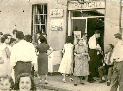 storia aziendale, Osteria del Cacciatore, oggi tabaccheria Colombo (Concesa di Trezzo), storia d'impresa
