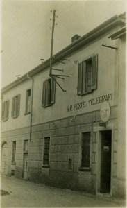 1938 - L'ufficio poste e telegrafi in via Garibaldi (Foto Raccolta Rino Tinelli)