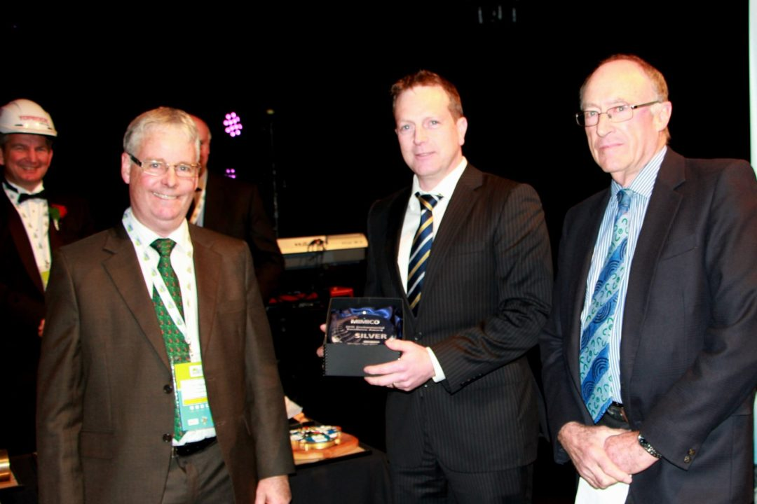 Chris Gray receives the MIMICO Silver Award on behalf of <strong>Belmont Quarry</strong>