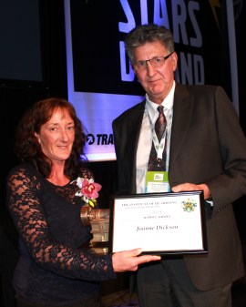 Joanne Dickson, 2014 recipient of the Niemac Award, pictured here with Graham Fergusson