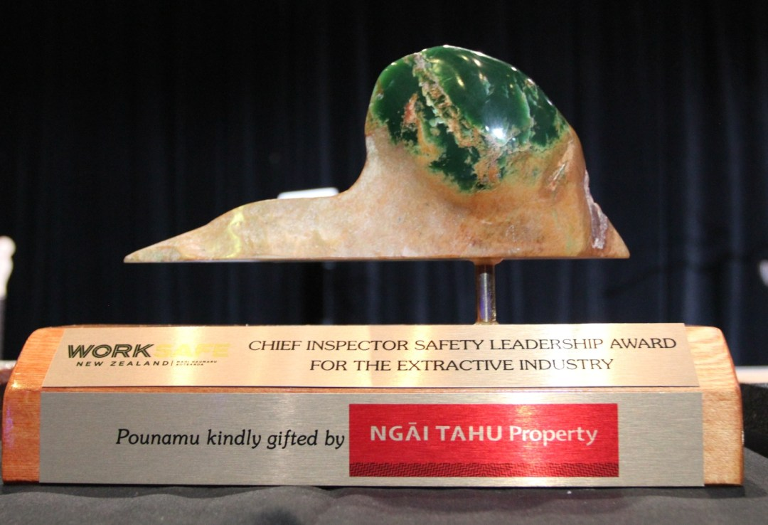 Worksafe NZ Chief Inspector Extractives Quarry Leadership Award