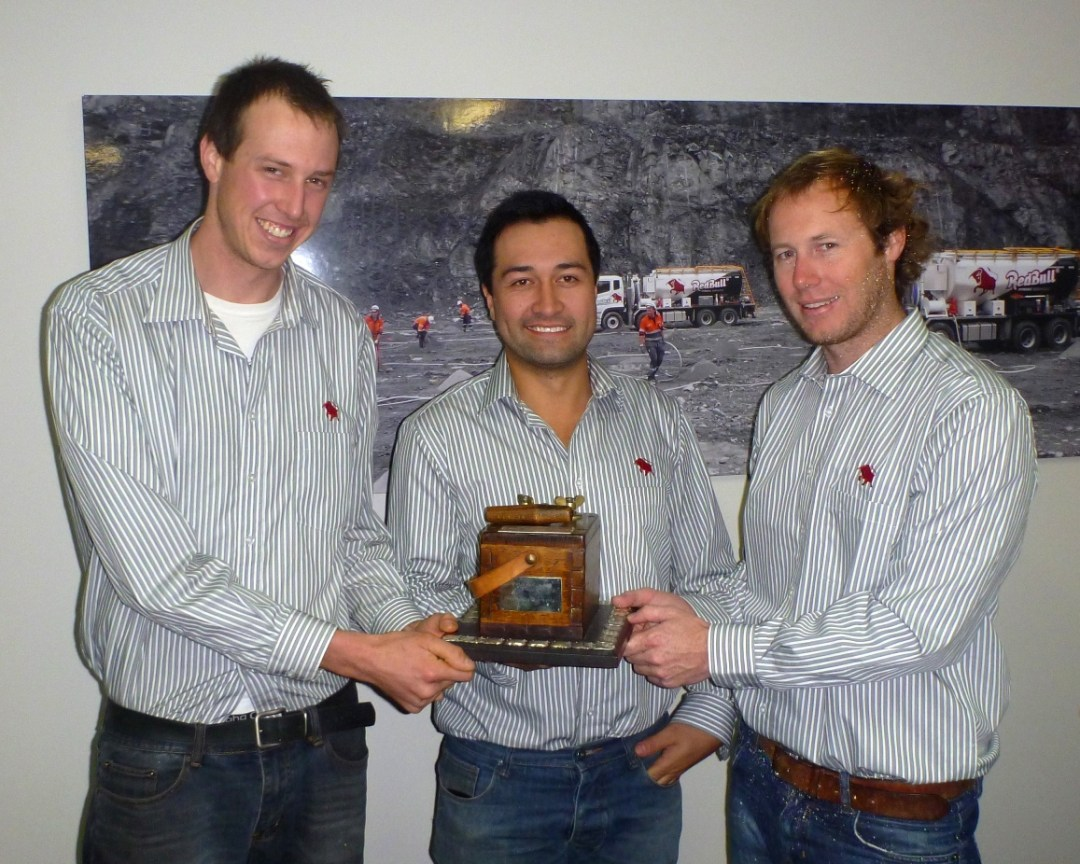 Winners of the 2013 Lyn Jordan Memorial Trophy Daniel leemeyer, Jason Tavioni, & Nick Bastow