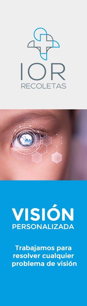 banner vertical de visión personalizada. Instituto Oftalmológico Recoletas