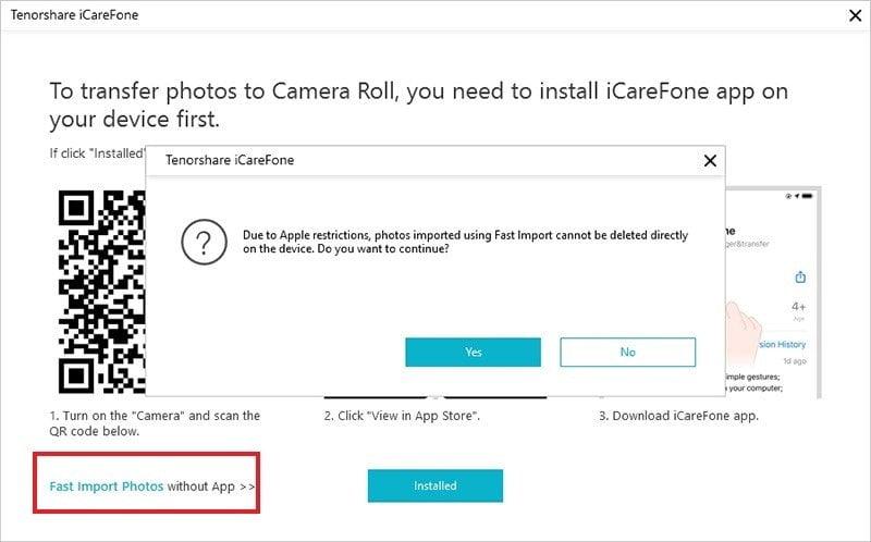 Transferindo fotos do PC no iPhone diretamente