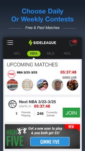 sideleague iPhone app review ss1