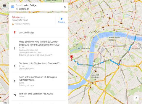 iPad Google maps app (1)
