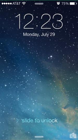 slide to unlock new iOS 7b4