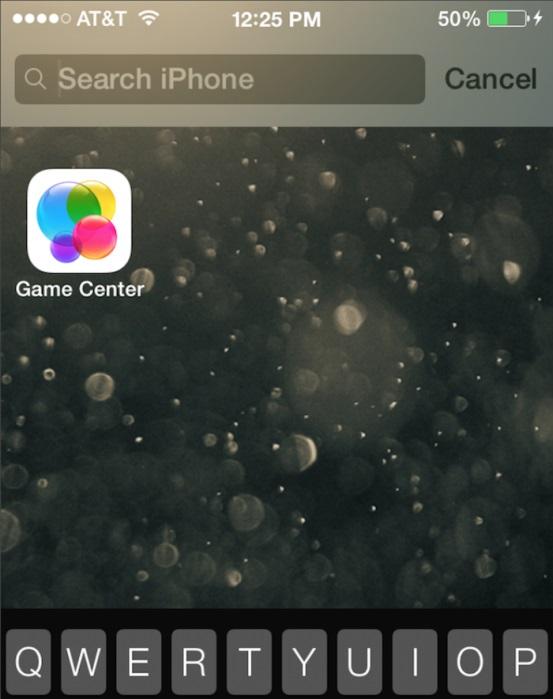 spotlight iOS 7b4