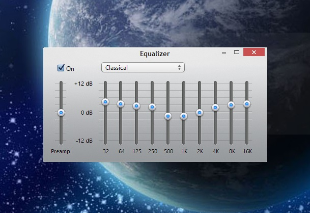 iTunes 11 equalizer main