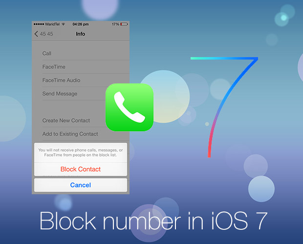 ios 7 block number-1