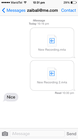 Voice messages iMessage 3