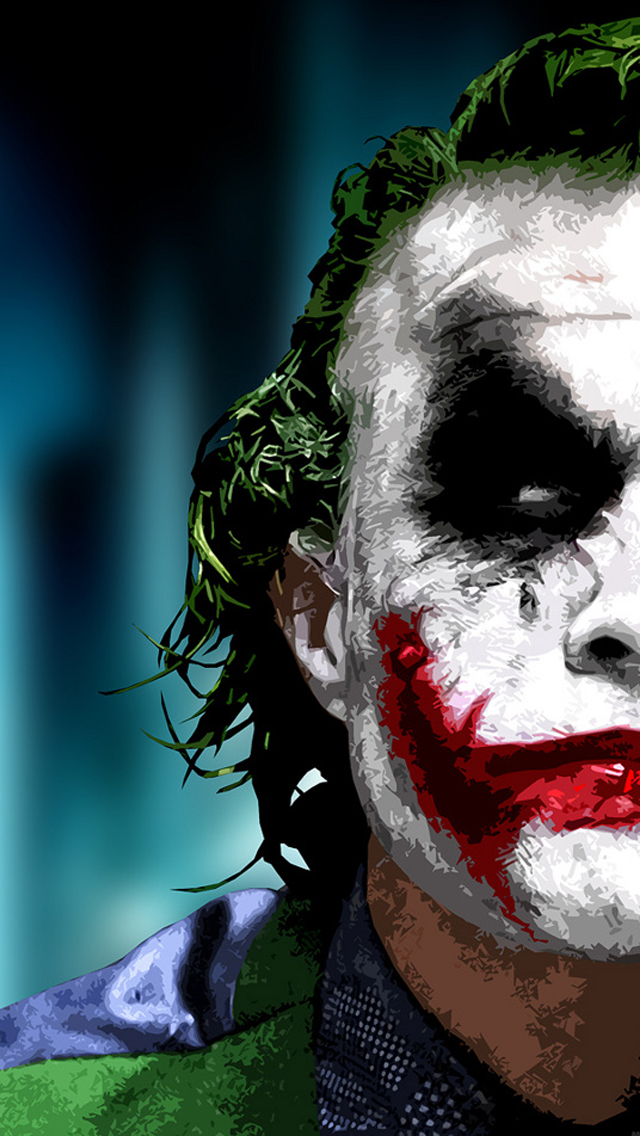 joker wallpaper colorful iphone