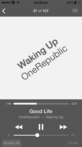BlurredMusicApp