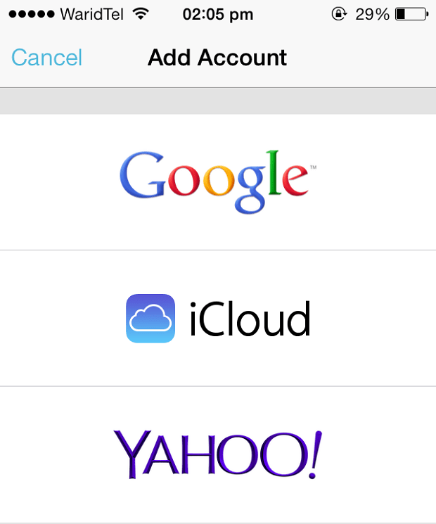 Mailbox iCloud Ymail