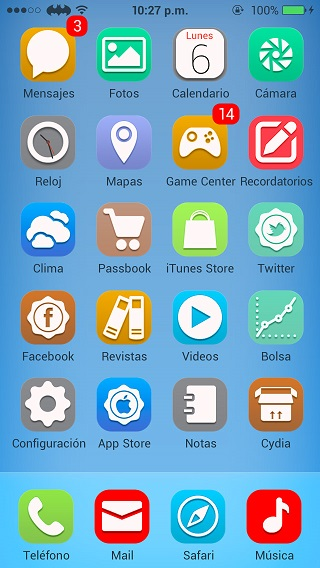 Anycon iOS 7 theme