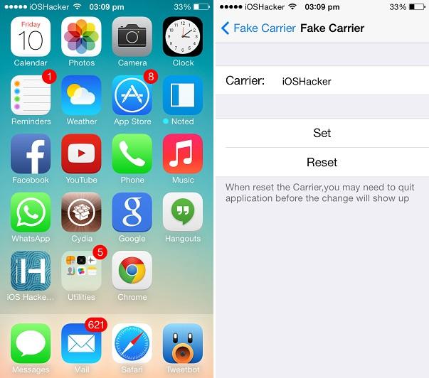Fake app icons