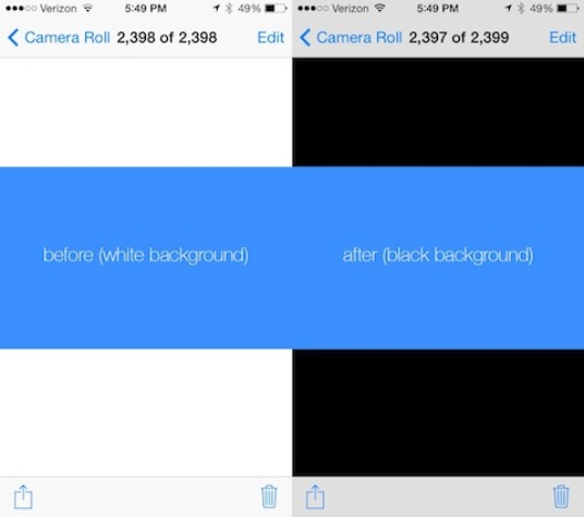 Photo Blackground tweak
