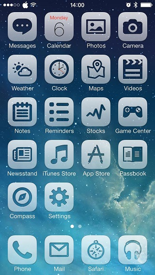 Translucent theme iOS 7