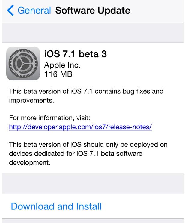 iOS 7-3 beta 3