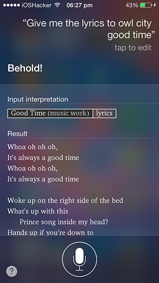 siri song lyrics