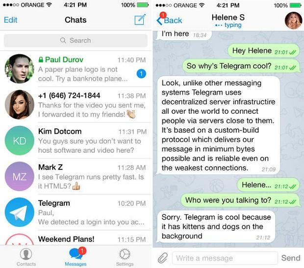 ... LINE, Kik Messenger, BBM, Telegram Messenger and WeChat - iOS Hacker
