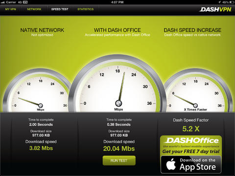 Dash VPN app