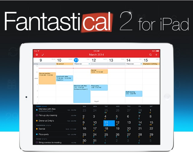 Fantasical 2 for iPad main