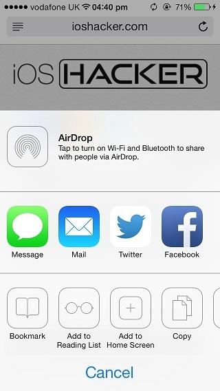 Reading list iOS 7