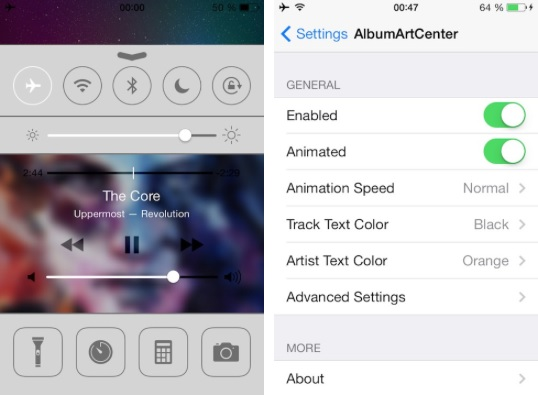 AlbumArtCenter tweak