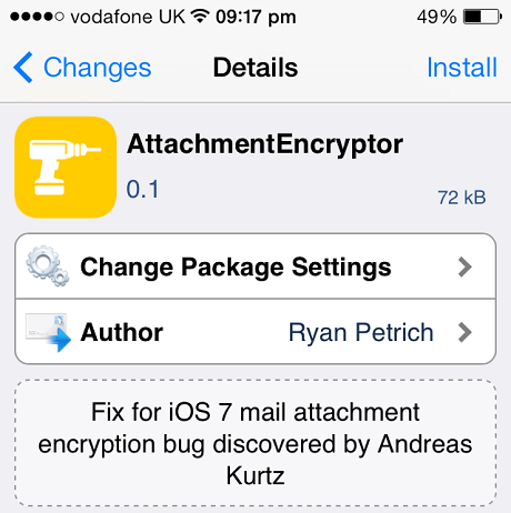 AttachmentEncryptor tweak