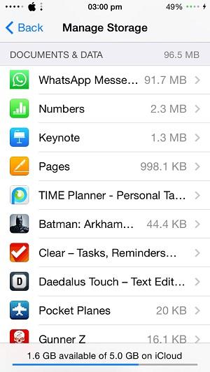 iCloud backup docs