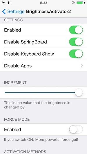 Brightness Activator 2 tweak