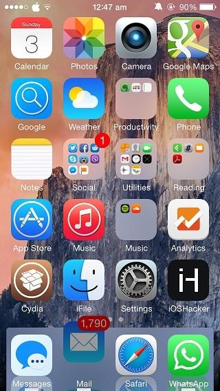 iPhone Yosemite setup