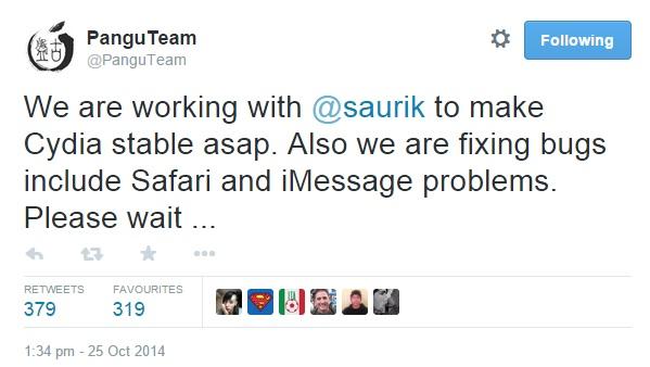 Pangu Team Saurik iOS 8