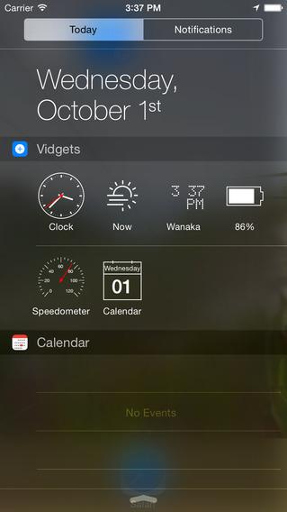 Vidgets app iOS 8