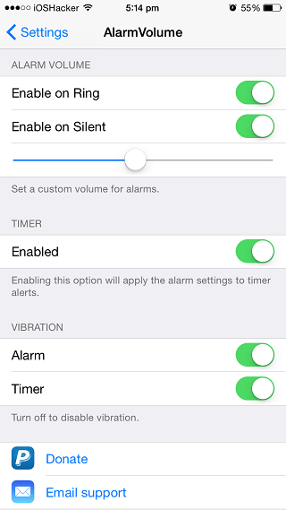 AlarmVolume tweak