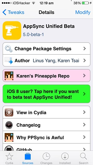 AppSync Unified iOS 8