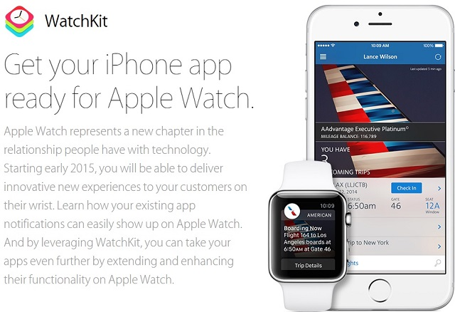 Apple WatchKit intro