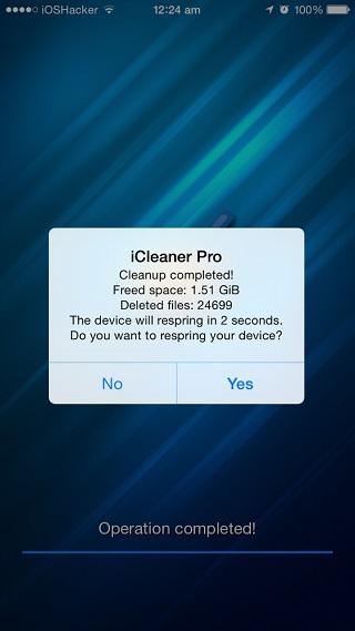 iCleaner Pro tweak