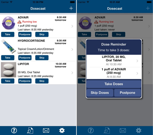 Dosecast app