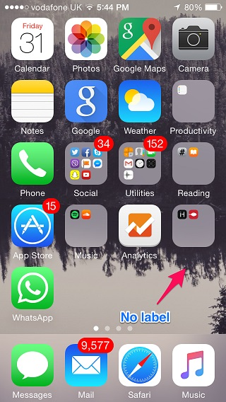 How to hide folder labels on iOS without jailbreak