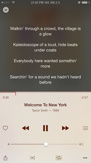 LyricForMusic tweak