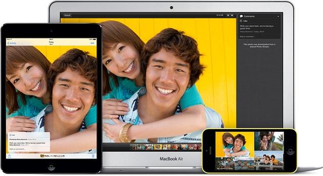 iCloud Photo Sharing main