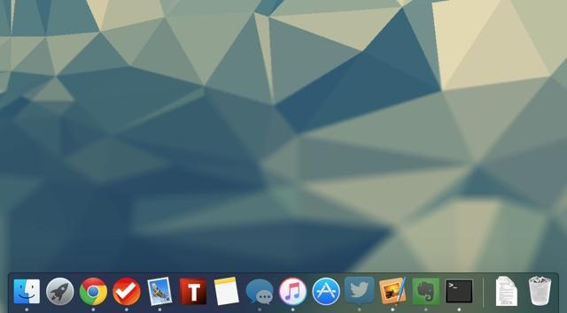 Dock hidden translucent icons