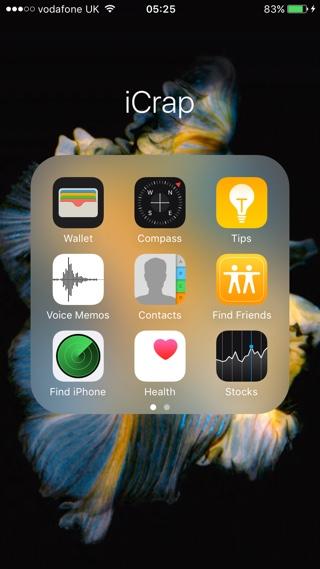 iCrap stock app icons