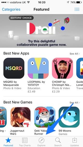 App Store refresh tip