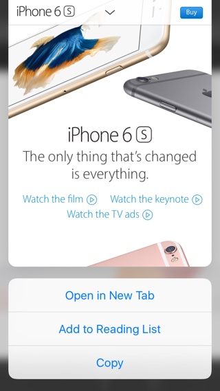 Safari copy 3D Touch