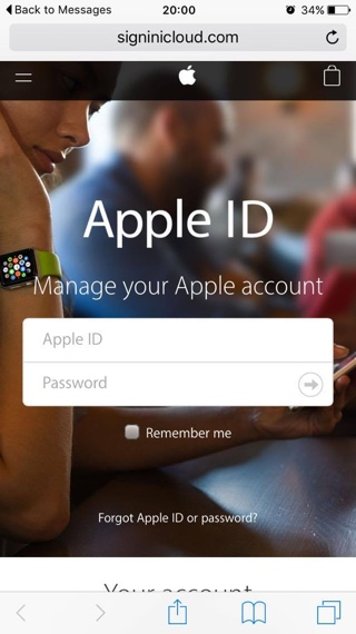 Apple iCloud scam1