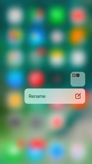 Folder Rename iOS 10
